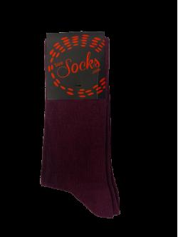 Size socks bomuldstrømper i mørkelilla til unisex