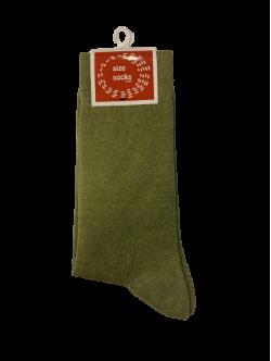 Size socks bomuldstrømper i grøn til unisex