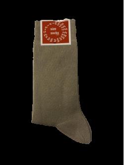 Size socks bomuldstrømper i lysebrune til unisex