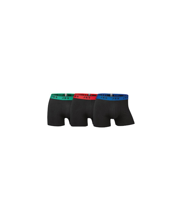 JBS 3-pak boxershorts i bomuld med farvet stribe i sort til herre
