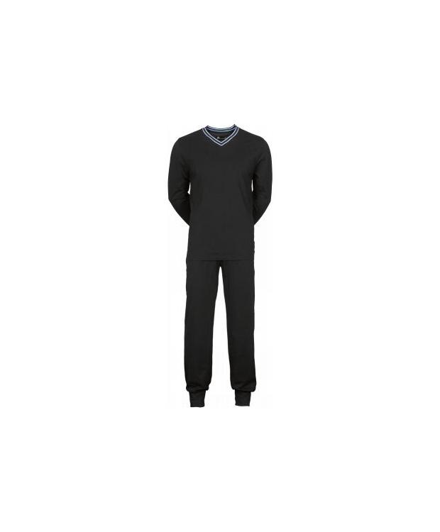 JBS pyjamas jersey i sort til herre