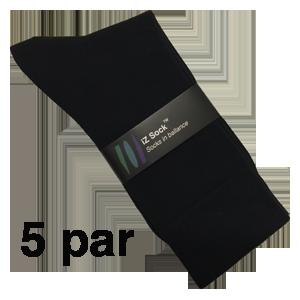 Lækre sorte bomuldsstrømper fra iZ Sock, sort str. 40 – 43. 5 par