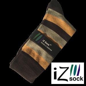 Image of   12 par - iZ Sock, Bambus modestrømper med tykke striber.