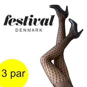 Image of   FESTIVAL FIE 30 denier tight. 3 par.