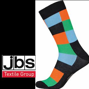 Image of   JBS strømper - Fed tern orange, blå og grøn