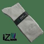 Str 48 - 50. lysegrå bambus strømper - iZ Sock