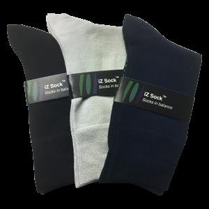 3 pak iZ Sock bambus – 3 flotte farver, navyblå, sort og lysegrå