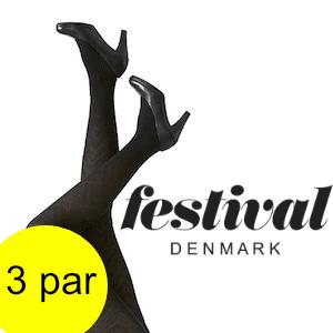 Image of   Festival strømpebukser, Flora Tights 40D. 3 par.