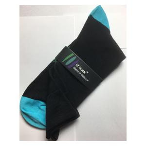 iZ sock, bambus strømper med turkis hæl og tå – Str. 35 – 38
