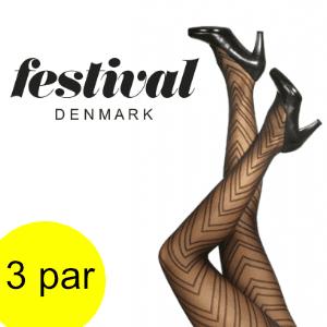 Image of   Lækre strømpebukser – 25 den 3D tight. 3 par.