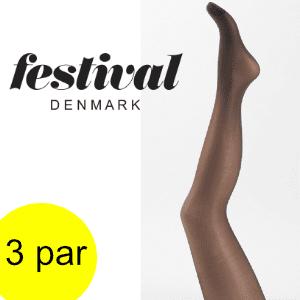 Image of   Festival strømpebukser; VOILA 20 den tight. 3 par.