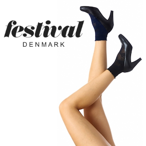 Image of   Festival 30 denier lace sock