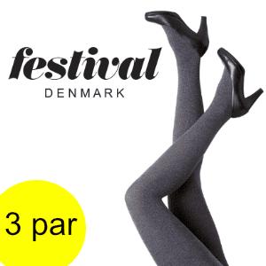 Image of   Flotte grå strømpebukser – Festival. 3 par.