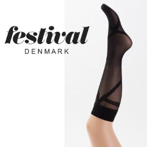 Billede af Lækker knæstrømpe – FESTIVAL AURA 3D microfibre knee high