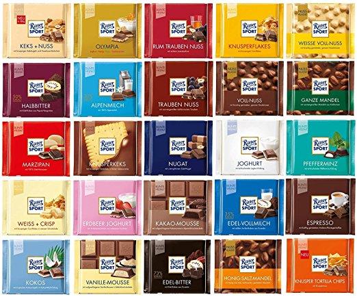 Image of   Få en lækker plade chokolade fra Ritter Sport