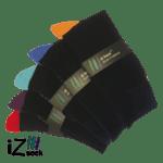 Sorte Bambus strømper med farvet hæl og tå fra iZ Sock - 5 pak