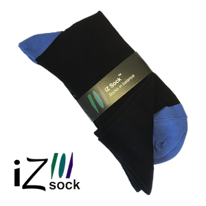Image of Sort og blå bambus strømper fra iZ Sock