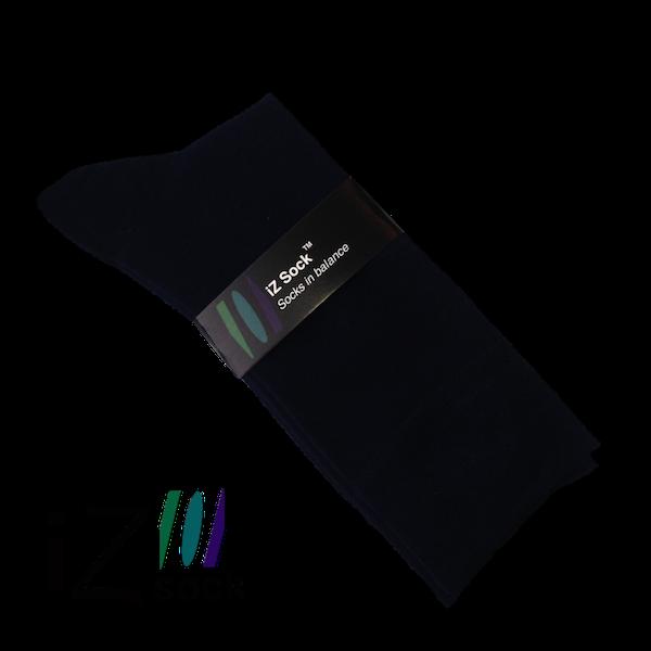 Image of   Bomuldsstrømpe fra iZ Sock i luksus kvalitet, sort