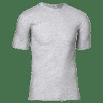 T-shirt bomuld - lys grå