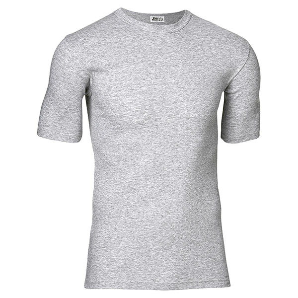 Gråmeleret T-shirt. 100% bomuld fra JBS