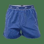 ækre JBS boxtershorts - blå med hvide striber