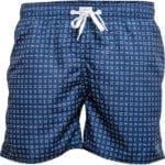 Smarte mørkeblå badeshort med et fedt mønster fra JBS