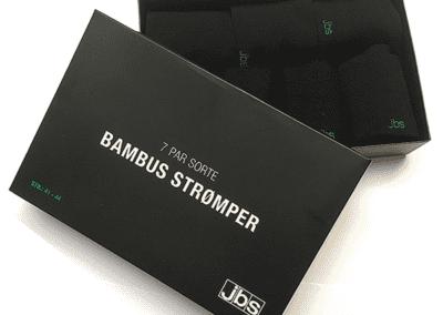 Bambus strømper i gaveæske - JBS strømper - 7 par