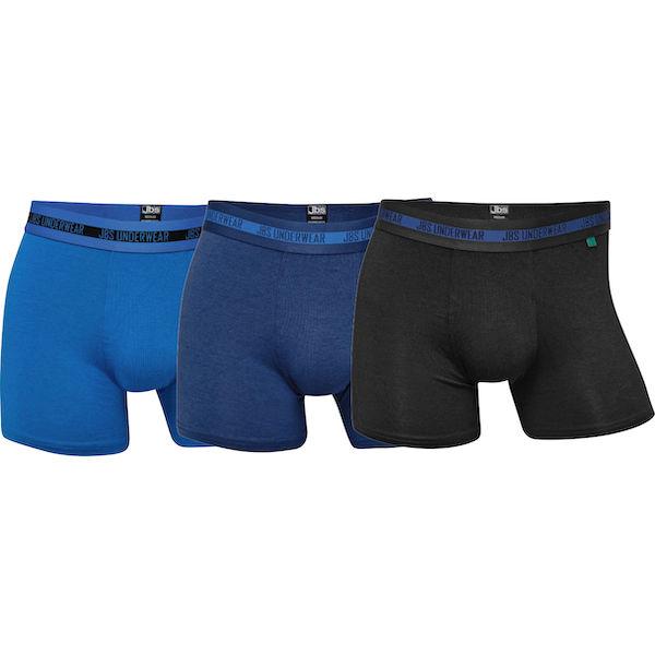 JBS Herre bambus tights i klassiske blå og sorte farver 3 i én pakke. Str. S til 2XL