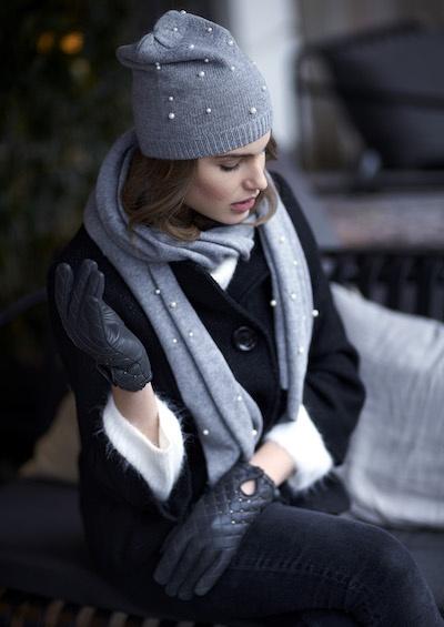 lækre huer, handsker og halstørklæder til kvinder