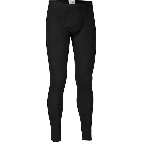JBS lange underbukser, sorte med gylp. 100% bomuld