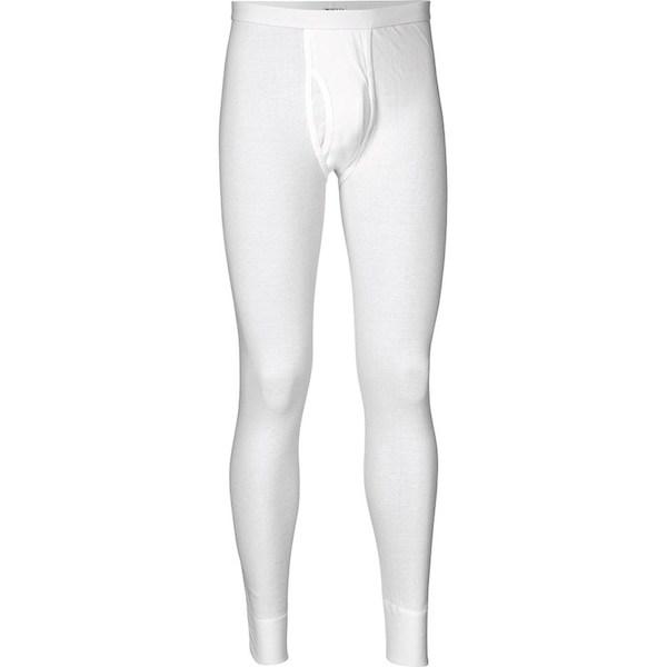 JBS lange underbukser i hvid med gylp. 100% bomuld